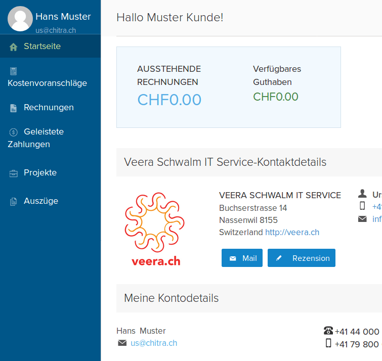 New Customer Portal - Veera